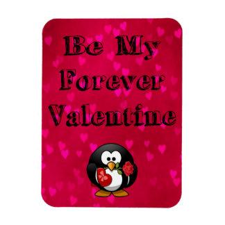 Be My Forever Valentine Penguin Rectangular Photo Magnet