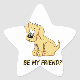 Be my friend? star sticker