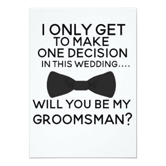 Be My Groomsman christmas wedding xmas Card