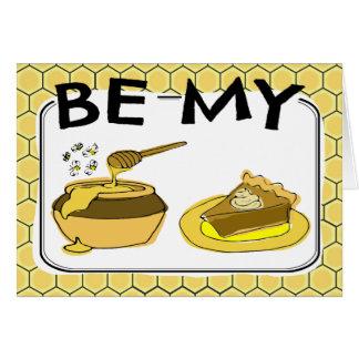 Be My Honey Pie Valentine Card