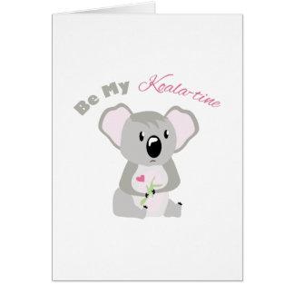 Be My Koala -Time Card