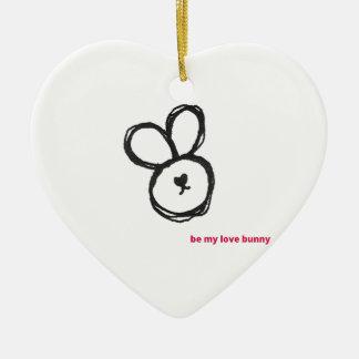 be my love bunny christmas ornament