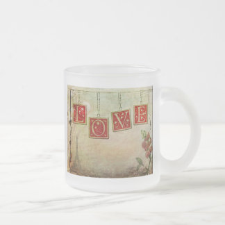 Be my love frosted glass mug