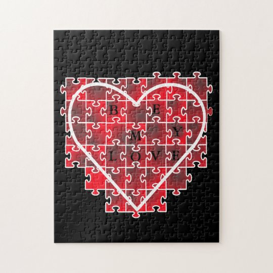 BE MY LOVE VALENTINE JIGSAW PUZZLE