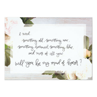 Be My Maid of Honor   Bridal Party Asking Card