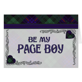 Be My Page Boy-  Armstrong Scottish Tartan Card