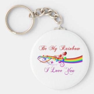 Be My Rainbow Gay Valentine Key Ring