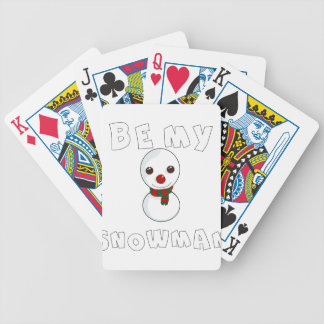 be my snowman bicycle playing cards