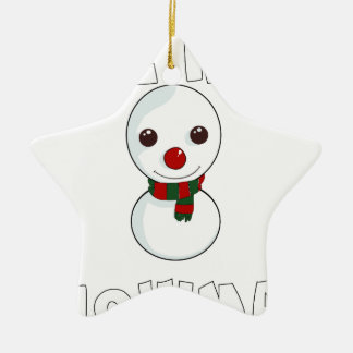 be my snowman christmas ornament