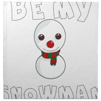 be my snowman napkin