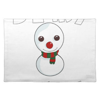 be my snowman placemat
