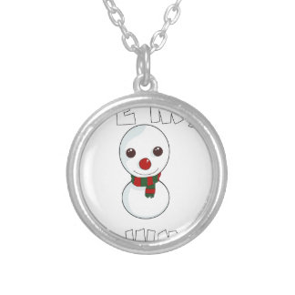 be my snowman silver plated necklace