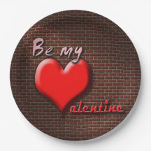 BE MY VALENTINE 9 INCH PAPER PLATE