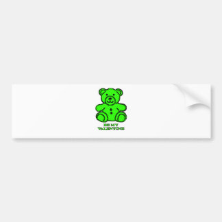 Be My Valentine Bear Green The MUSEUM Zazzle Gifts Bumper Sticker