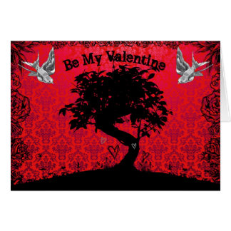 Be My Valentine Bonsai Tree of Love Greeting Card