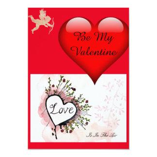 Be My Valentine card 13 Cm X 18 Cm Invitation Card