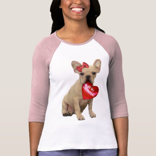 Be My Valentine French Bulldog T-shirt
