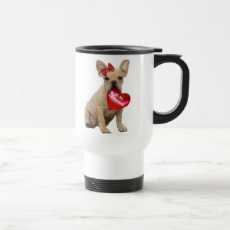 Be My Valentine French Bulldog Travel Mug