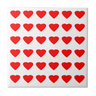 Be My Valentine Hearts 36Red Transp  jGibney Small Square Tile