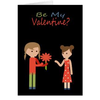 Be My Valentine Lesbian Themed Greeting Card