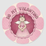 Be My Valentine ~ Little Angel Girl D1 Stickers