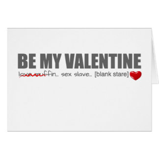 Be My Valentine Love Muffin Card