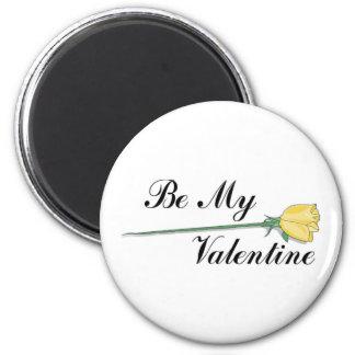 Be My Valentine 6 Cm Round Magnet