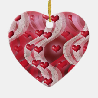 """Be my valentine"" red heart decoration Ceramic Heart Decoration"