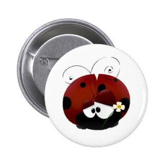 Be My Valentine Red Ladybug Cartoon 6 Cm Round Badge