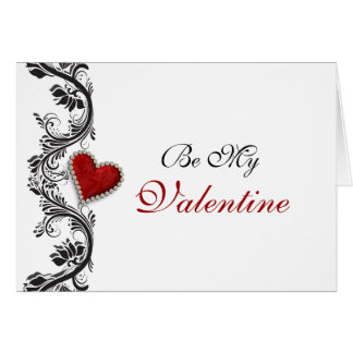 """Be my Valentine"" romantic red heart Card"