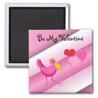 Be My Valentine Square Magnet