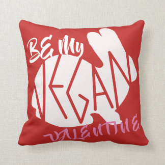 Be My Vegan Valentine pillow
