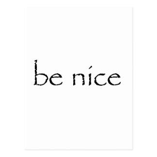 be nice Customize Product Postcard