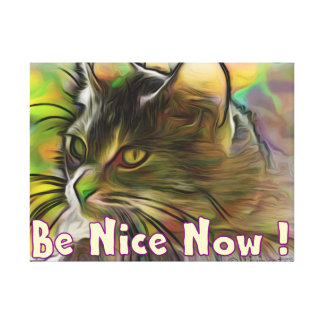 Be Nice Now Canvas Print