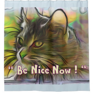 Be Nice Now Shower Curtain