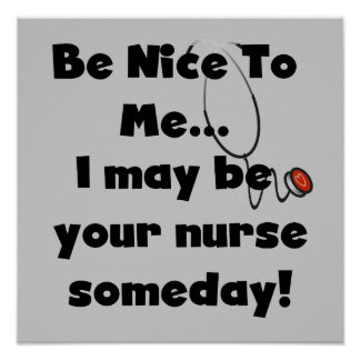 Be Nice Nurse T-shirts and Gifts Print