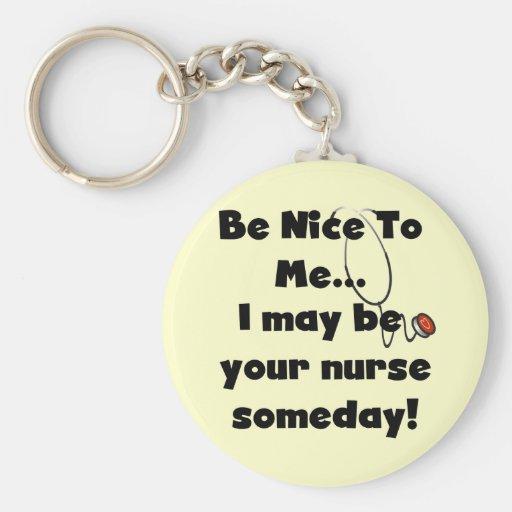 Be Nice Nurse Tshirts and Gifts Keychain