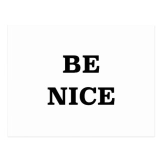 Be Nice (spread the word) Postcard