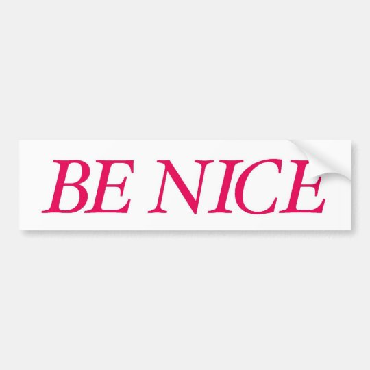 Be Nice (The Red Warrior) Bumper Sticker