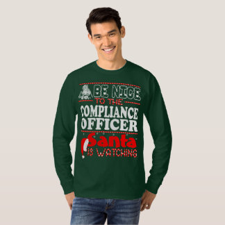 Be Nice To Compliance Officer Santa Watching T-Shirt