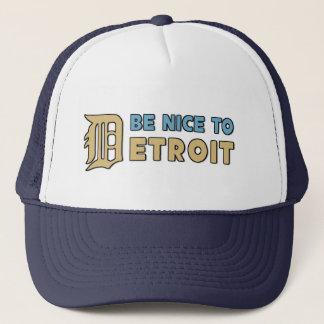 Be nice to Detroit Trucker Hat