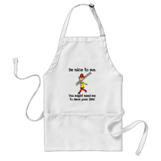 Be Nice to Firefighters Standard Apron
