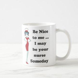 Be nice to me coffee mug