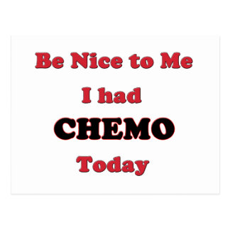 Be Nice to Me I had Chemo Today Postcard