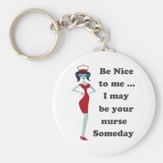 Be nice to me key ring