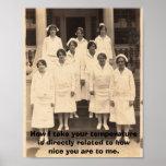 Be Nice to Nurses Poster