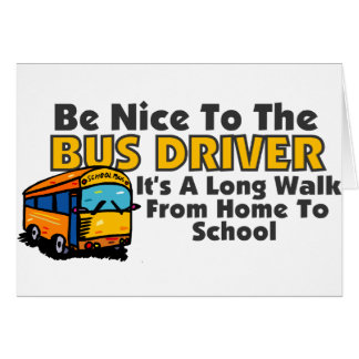 bus driver cards photo card templates invitations more. Black Bedroom Furniture Sets. Home Design Ideas