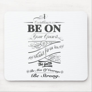 Be on guard!! mouse mat