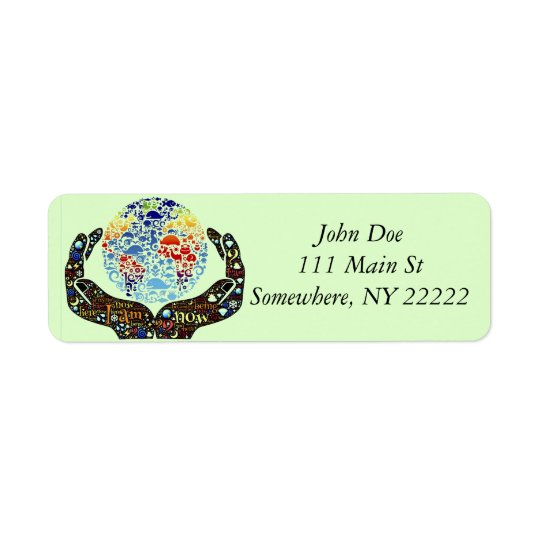 Be One With The Earth Return Address Label