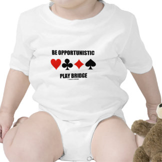 Be Opportunistic Play Bridge (Four Card Suits) Baby Bodysuits